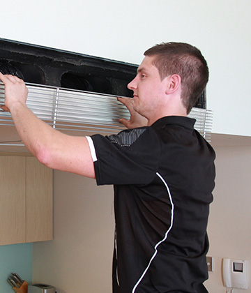 Maintenance of ducted air conditioning systems